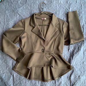 True black cropped dressy jacket sweater